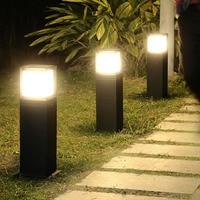Thrisdar E27 Waterproof LED Garden Lawn Lamp Modern Pathway Column Pillar Light Outdoor Villa Landscape Lawn Bollard light