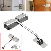 1pc Adjustable Mini Mounted Spring Door Closer Stainless Steel Surface Automatic Door Closer
