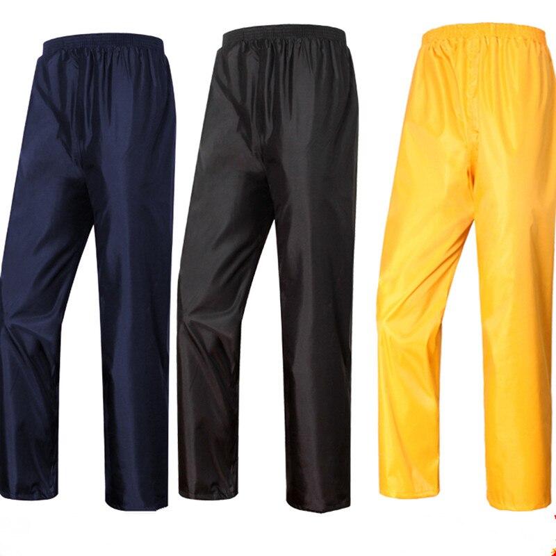 Men Women Double Layer Split Waterproof Rain Pants Adult Outdoor Hunting Fishing Elastic Waist Breathable Wading Single Trousers