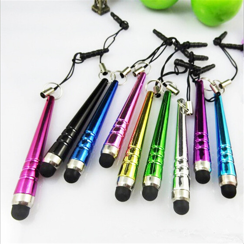 10Pcs/Set New Touch Screen Pen Tablet Phone Stylus for iPod PC Universal Multi-Color Optional Mobile Phone Lanyard Accessories