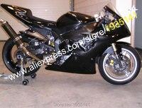 Лидер продаж, ABS тела комплект для Yamaha YZF R1 2002 2003 YZF1000 02 03 YZF R1 все черные спортивные мотоцикл обтекатель (инъекции литье)