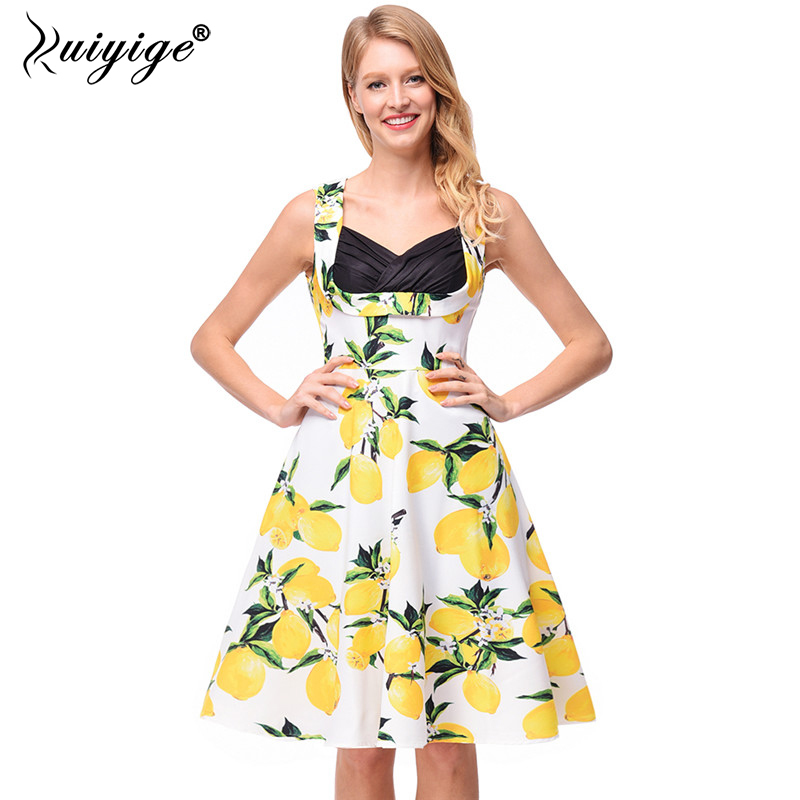 White Wedding Dress With Black Flowers: Aliexpress.com : Buy Ruiyige Lemon Print Floral Bandage