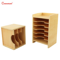 Montessori Wooden Geometric Card Cabinet Leave Puzzle Teaching Aids Wooden Sensory Materials Educational Toys Biology BO059 3