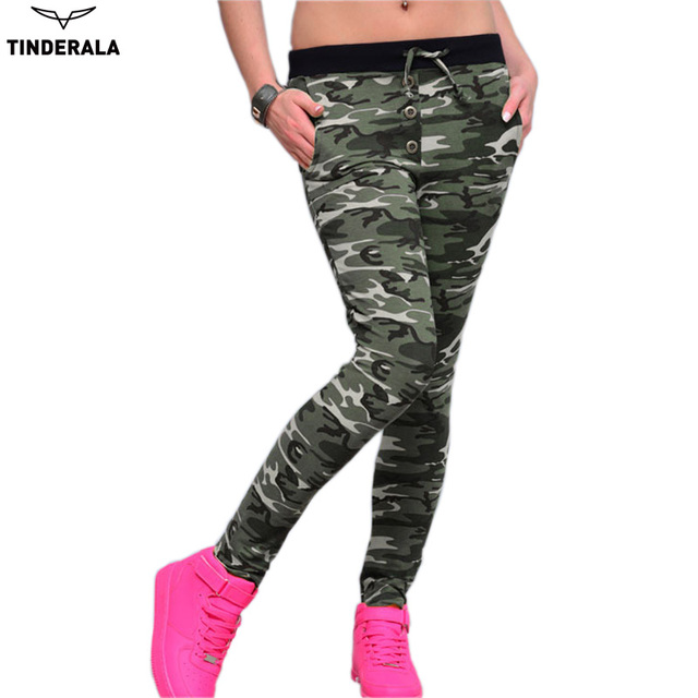 TINDERALA Camouflage Sexy Lady Women stretch Fashion leggings Jeggings Slim New Pants Fitness legging leggins
