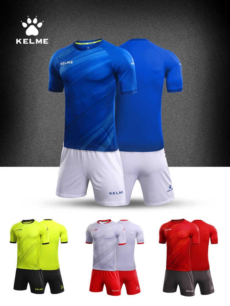 KELME مخصص الرجال لكرة القدم جيرسي أزياء كرة قدم طفل التدريب الدعاوى الأصلي فريق جيرسي قصيرة الأكمام تنفس KMC160026