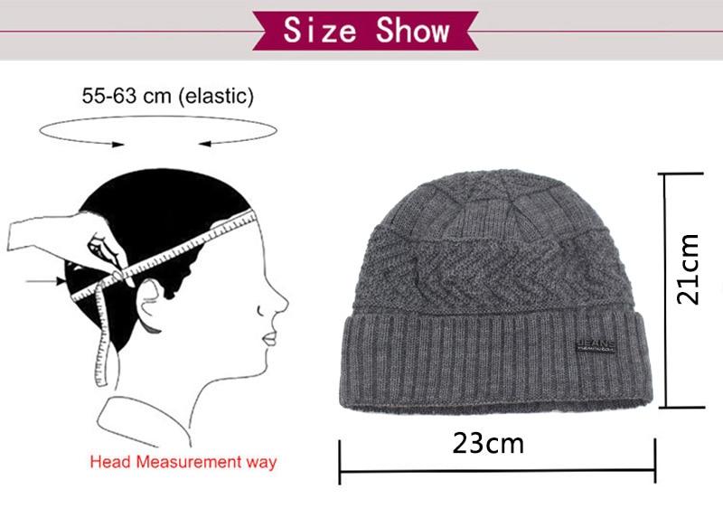 قبعات مع وشاح للرجال 13