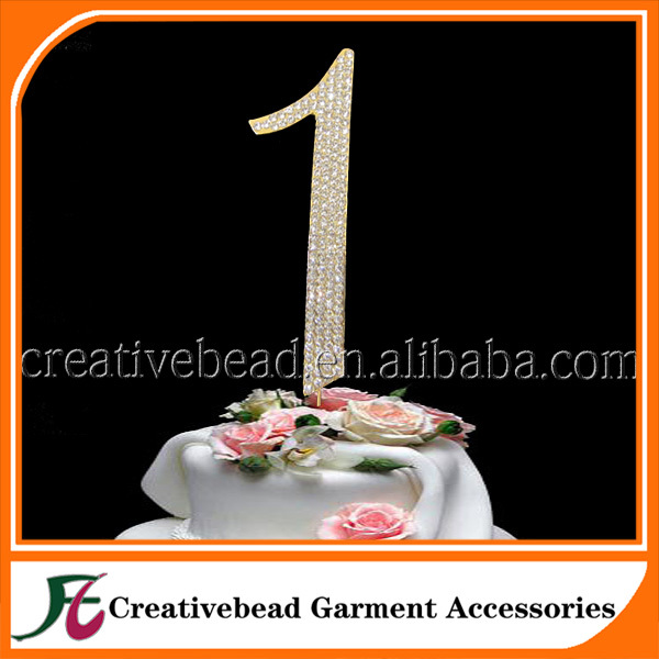 50pcs Free Shipping Number 1 Birthday Cake Topper Birthday Number