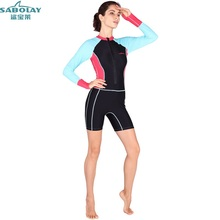 Surf clothing Sunscreen Jellyfish clothing Large size Siamese Long sleeves Swimwear Swimsuit