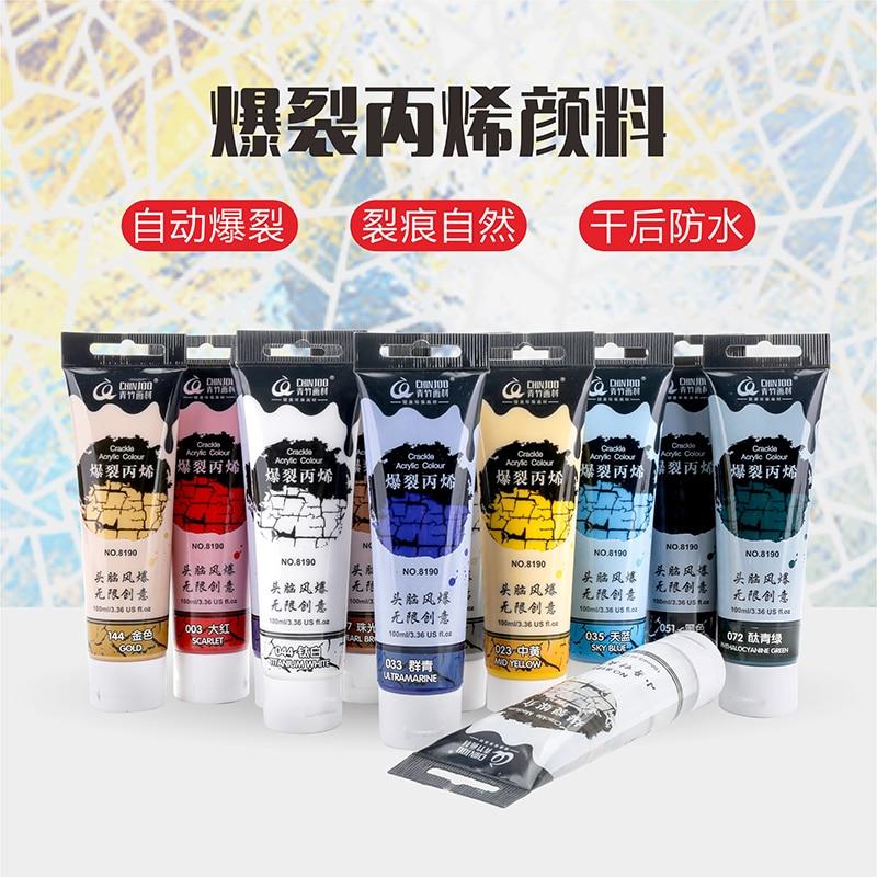 цена на Crackle Acrylic Paint Single Wall 100ml Process Wall Paint , paint for vase wall