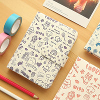 Newest Abstraction Vintage 36K Notebook Hardfaced Ultra Thick Floral Art Notepad Diary Magnetic Buckle Composition Book