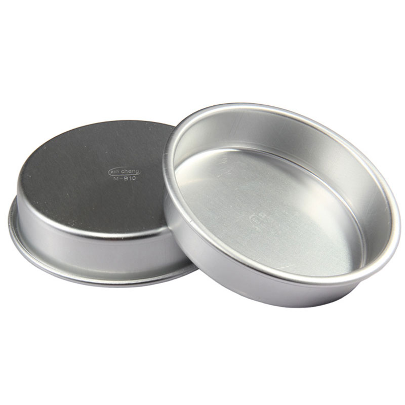 5pcs/10pcs 4inch Aluminum Hamburg Cake Pan Mold Pudding Jelly and Bread Moulds Bakeware Kitchen Accessories P10096