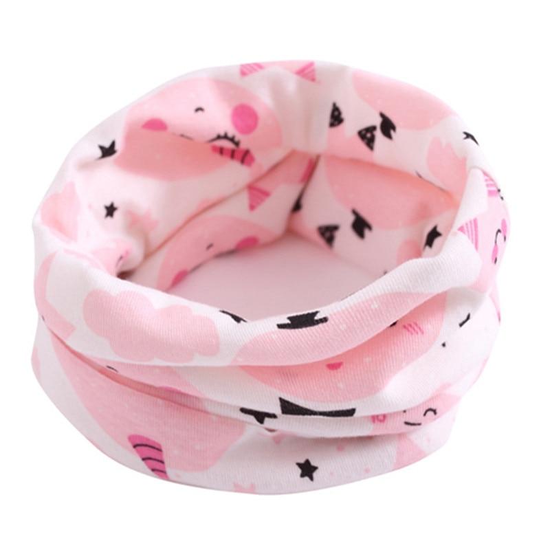 Весенний детский хлопковый шарф, теплый шарф для маленьких детей, осенне-зимние шарфы с героями мультфильмов для мальчиков и девочек, детский воротник с круглым вырезом, волшебный шейный платок - Цвет: 35