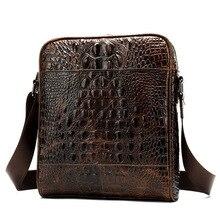 8c37ee28f2 Business first-class pelle bovina di un sacchetto di spalla verticale del  modello del coccodrillo degli uomini sacchetto di cuoi.