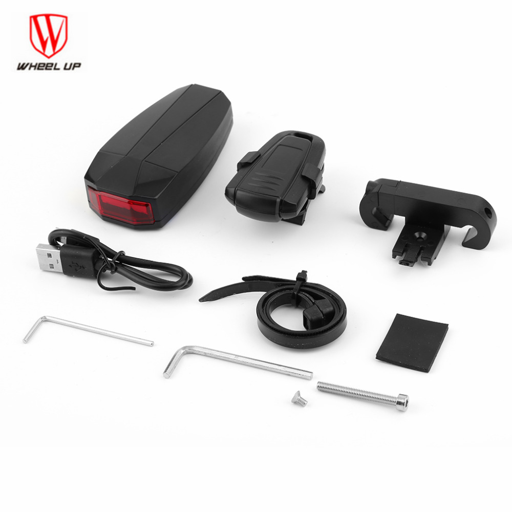 <font><b>WHEEL</b></font> UP 4 In 1 Waterproof Anti-theft Wireless Remote Control Bike lights Bicycle Taillights Bike Rear Light MTB <font><b>Lamp</b></font>