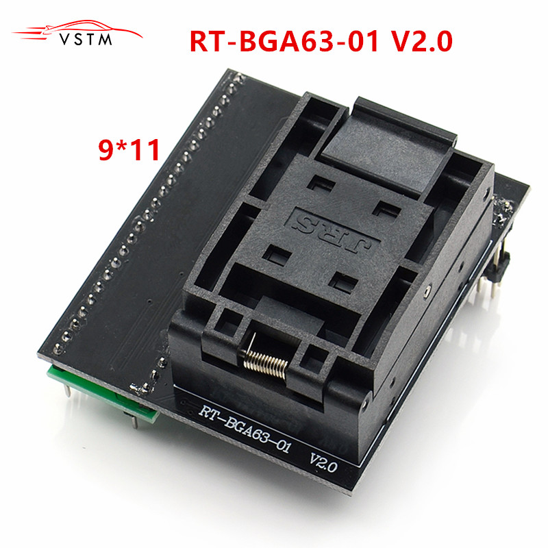BGA63 Adapter for RT809H Programmer Socket RT BGA63 01 V2 0 0 8MM Limiter Frame 9x11mm