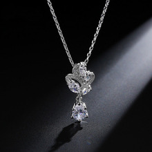 LISM Fashion Water Drop Necklace women Inlaid Shinning Cubic Zircon For  Girlfriend Wife Gift