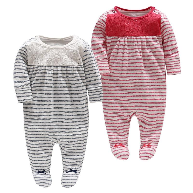 Picturesque Childhood Official Store 2-1 Unisex Stripe Printed Fleece Footies Sleep and Play Newborn Jumpsuit multi stripe tie front wide leg jumpsuit