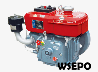 Factory Direct Supply! WSE-R170 4HP Water Cooled 4-stroke Small Diesel Engine Applied for Generator/Cultivator/Boat aluminum water cool flange fits 26 29cc qj zenoah rcmk cy gas engine for rc boat