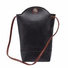 2017 Vintage Women Handbag Women Mini Shoulder Bag Cell Phone Bag PU Leather Smooth Leather Messenger Bag Bolsas femininas