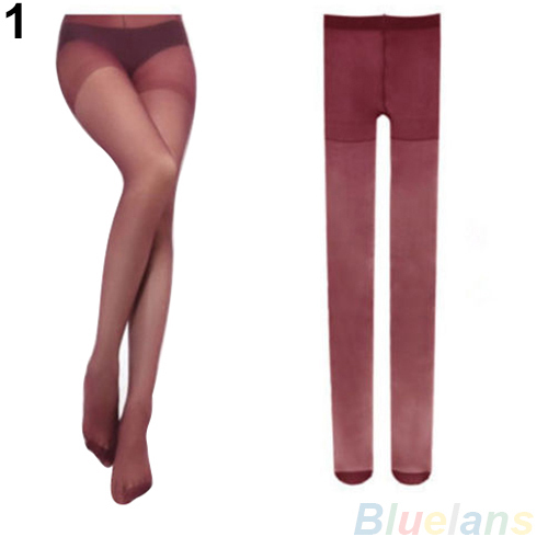 Hot Women's Sexy Fashion Candy Color Transparent Velvet Tights Stockings Pantyhose  8NG8 1