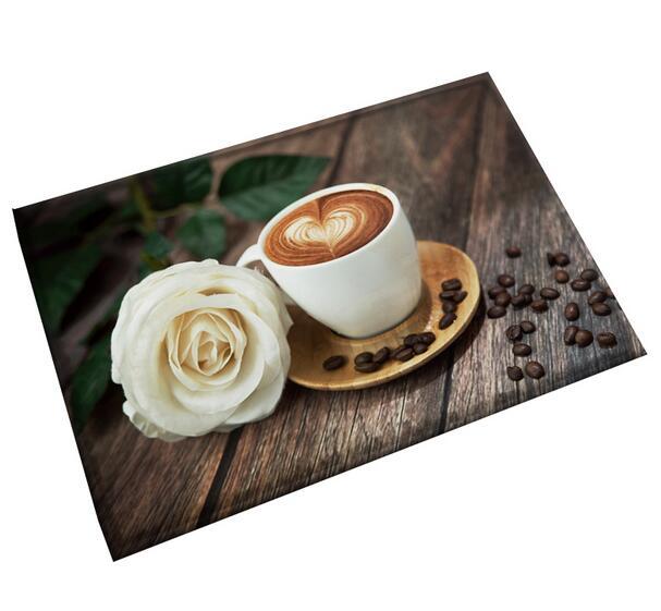 3D Coffee Cup Doormat Area Rugs Floor Carpet Non-slip Floor Door Mats for coffee house Living Room Kitchen Floor Stairs Area mat