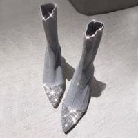 New ankle boots for women schoenen vrouw bayan ayakkabi designer shoes women luxury 2018 sock boots