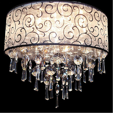 400MM Modern European K9 Crystal Chandelier Light Ceiling Crystal Chandelier Ceiling Lustre E14 LED Bulbs Lamp Lighting 110-240V