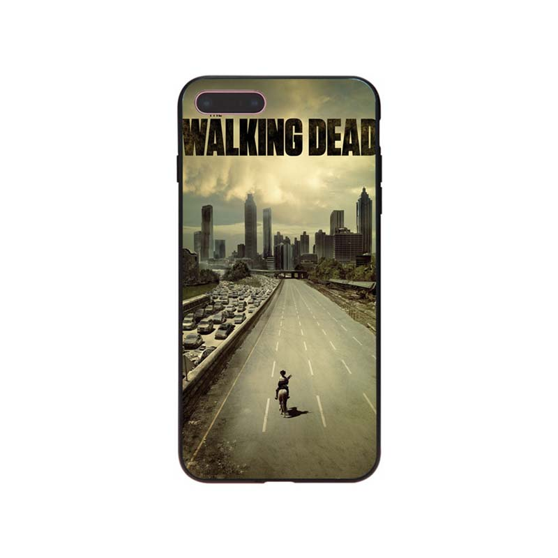 US $1 21 39% OFF|MaiYaCa The Walking Dead Hot fashion design Cell phone  Case For iPhone X 8 8Plus 7 7 Plus Mobile cover-in Half-wrapped Case from