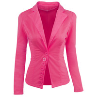 Vogue New Womens One Button Slim Coat Outwear Fashion Designer Nice Women Office Suit Casual Basic Jacket Tops Female