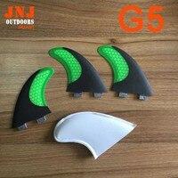 Vendita superiore in fibra di carbonio di colore verde pinne tavola da surf fcs m g5/pinne future/pinne fc