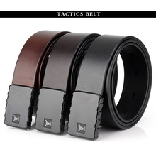 2019 ENNIU NEW men belt Tactical fast double hook quick release Genuine leather Men CS Army Style 3.8 cm