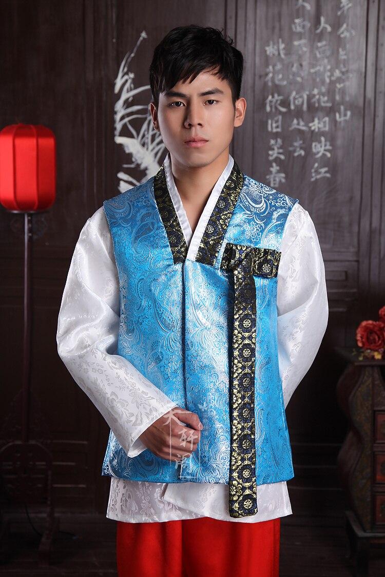 New Traditional Korean Man Hanbok Dae Jang Geum Wedding Costumes ...