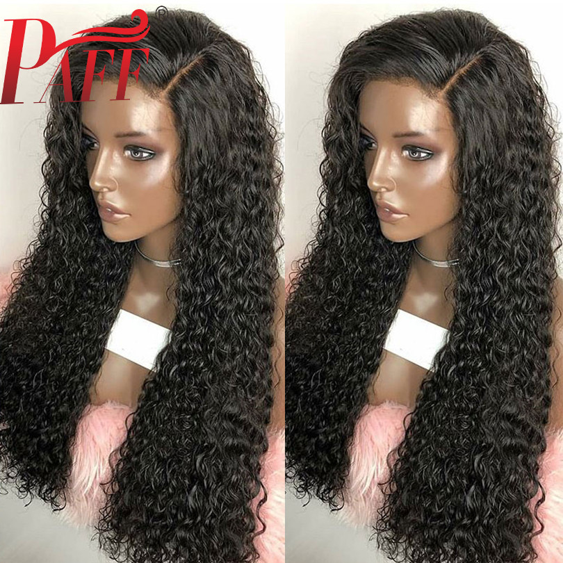 PAFF Chinese Deep Curly Human Hair Wig For Black Women 130 150 180 Density Side Part