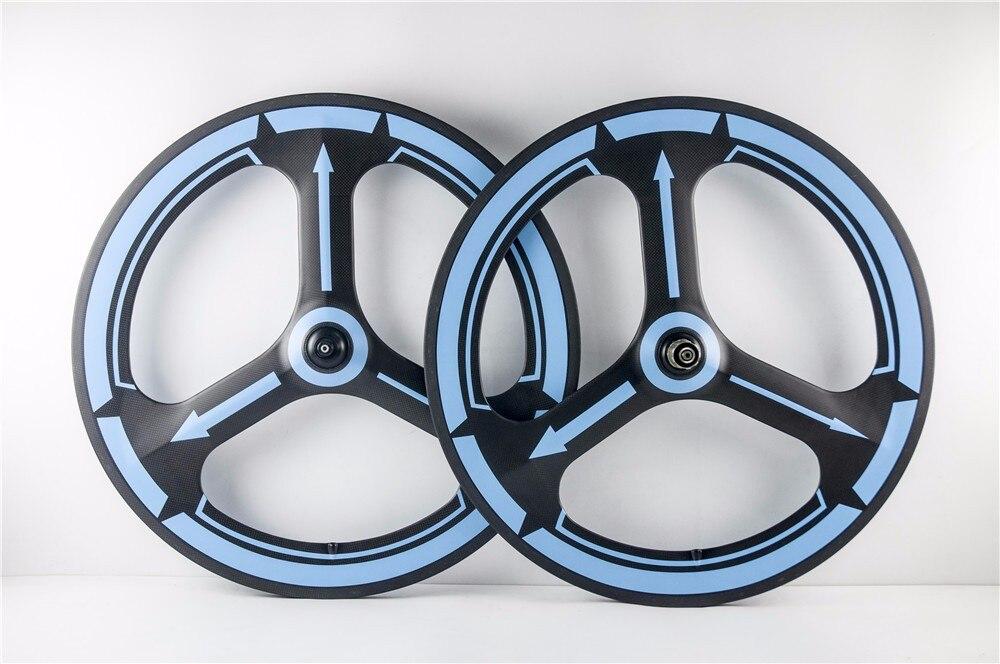 road or track 3 spoke bike wheels carbon fiber painting wheels tri racing bicycle racing wheels h 480 7 0 r16 4x114 3 et40 0 d67 1