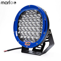 Marloo 1pcs Car 185W Led Work Light 9 inch Round 12V LED OFFROAD LIGHTS SUV ATV 4WD Red Black Blue Yellew Led Driving light