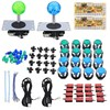2 Players Arcade Joystick DIY Kits With 2 Zero Delay Keyboard 16 LED Push Buttons 16