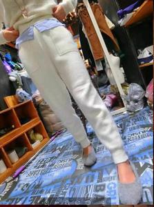 Image 3 - LOVELY JINNUO女性のズボン冬のミンクカシミアニットレギンス長ズボンで暖かいパンツポケット送料無料JN480