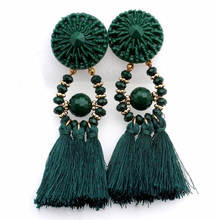 HOCOLE 2017 Brincos Women Brand Boho Drop Dangle Fringe Earring Vintage ethnic Statement Tassel earrings fashion jewelry Charms