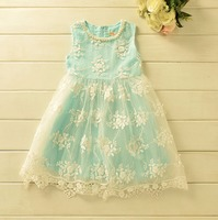 Free Shipping Wholesale 2016 Newest Autumn Girls Cute Print Cats Ruched Short Chiffon Dresses Party Princess