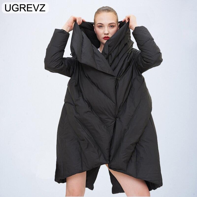 Mode élégante femmes Parka 2018 nouvelle veste d'hiver femmes Parkas coton rembourré veste chaude femme Long manteau Boutique vêtements hauts