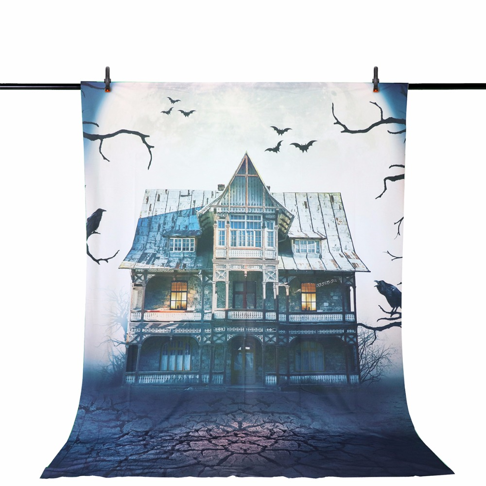 Allenjoy photography backdrop Haunted house Horror Screaming Full moon Halloween professional festival backdrop photographic life size scary severed head party decoration haunted house halloween props