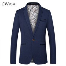 CW Brand Clothing Blazer Men 2019 One Button Men Blazer Slim Fit Costume Homme Suit Jacket Masculine Blazer M-5XL Tuxedo Dress цена