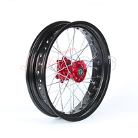 3.5*17 SUPERMOTO Front WHEELS RIMS SET FOR HONDA CRF250R 2004 2013 CRF450R 2002 2012 2011 2010 2009 2008 2007 2006 2005 RED HUB