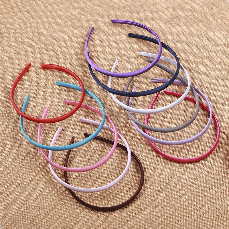 10 шт 5 мм ткань обруч для волос группа одноцветное Нержавеющаясталь группа для Головные уборы делая установка Пустой Базы DIY фурнитура ювелирных изделий для ношения в волосах