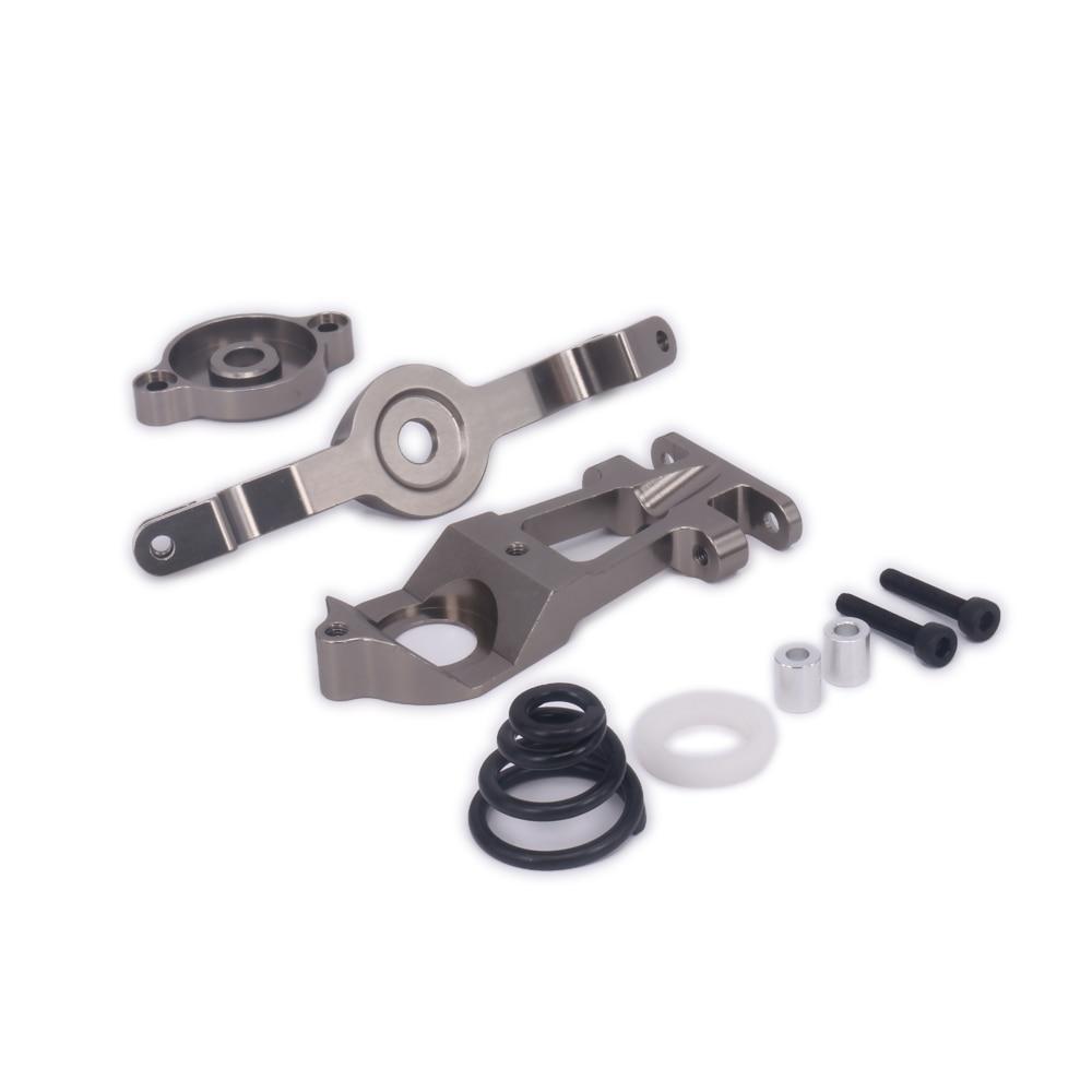 1Set Alloy Steering Servo Saver Complete Set For Rc Hobby Car 1/10 Traxxas E-Revo Summit Slayer Maxx Revo3.3 ERO-010 5344 Truck