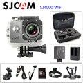 Venda quente novo sjcam sj4000 original wifi action camera diving 30 m subaquática à prova d' água câmera 1080 p esporte camera connector conjunto