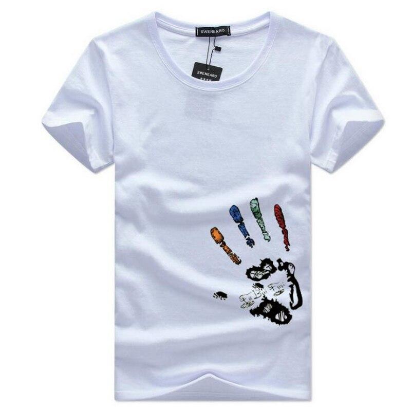 competitive price 32530 66dce Männer T-Shirts Plus Größe 5XL 4XL T Hemd Homme Sommer Kurzarm herren T  Shirts Männliche T-shirts Einfache palm print-design T-shirt