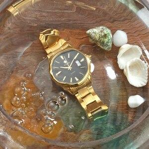 Image 5 - Watches men 2019 Top Brand Luxury Stainless Steel Gold wristwatch men Waterproof golden male watch men 2018 Relogio Masculino