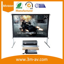 Fast Quick Fold Projector screen 200 inch4:3 format front and rear PVC projector screen together package with air freigh case