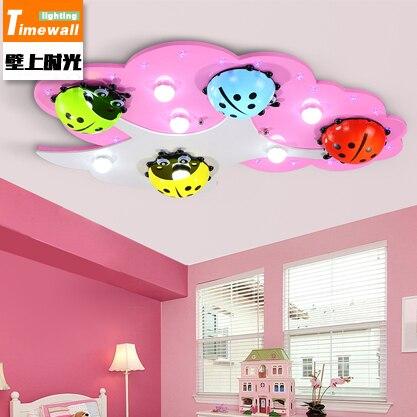 CM059 Children's Room Ceiling Lamp LED Bedroom Lamp Seven Star Ladybug Nursery Cartoon Eye Girl Room Lamp
